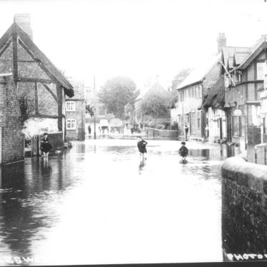 Polesworth.  Bridge Street, floods