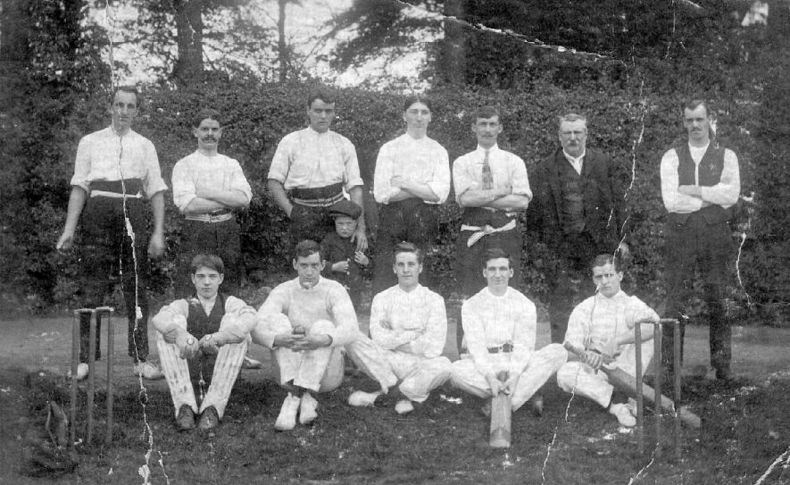Baddesley Ensor cricket team photograph which probably includes Henry Fretwell.  1900s |  IMAGE LOCATION: (Atherstone Library) PEOPLE IN PHOTO: Fretwell, Henry, Fretwell as a surname