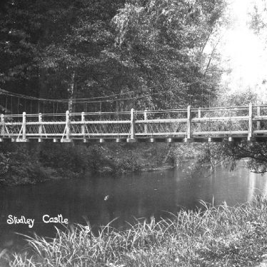 Studley.  Castle suspension bridge