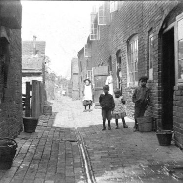 Atherstone.  Meads (Ortons) Yard from Long Street