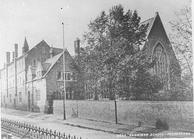 Atherstone Grammar School.  1900s |  IMAGE LOCATION: (Warwickshire County Record Office)