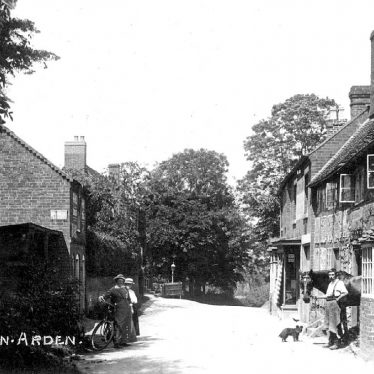 Tanworth in Arden.  Man and ladies