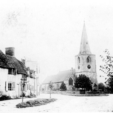 Tanworth in Arden.  Church and village