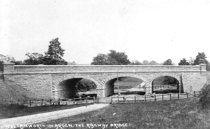 The newly built railway bridge at Tanworth-in-Arden.  1908 |  IMAGE LOCATION: (Warwickshire County Record Office)