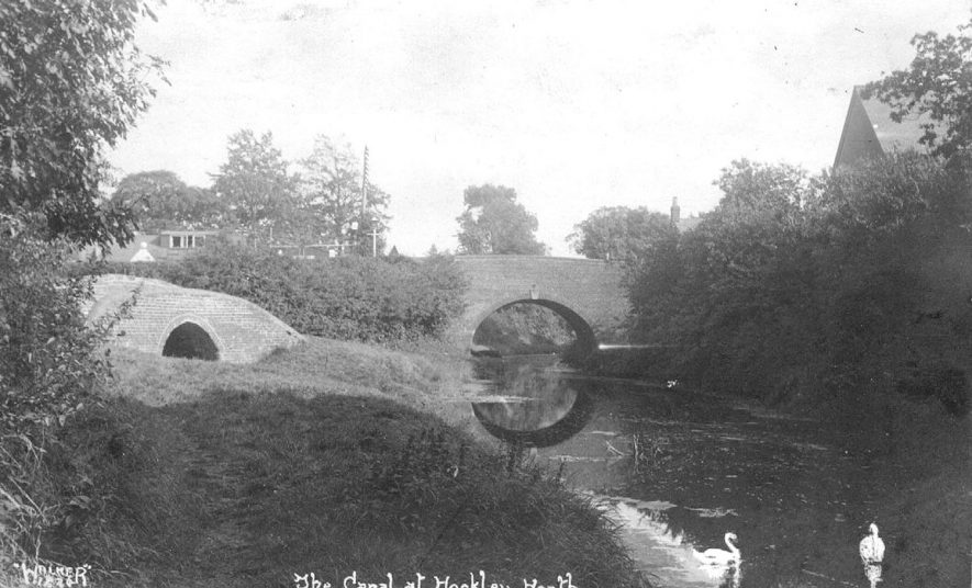 The Stratford upon Avon canal and bridges at Hockley Heath.  1940s |  IMAGE LOCATION: (Warwickshire County Record Office)