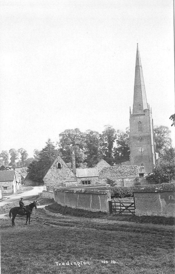 St Gregory's Church, Tredington.  Circa 1920 |  IMAGE LOCATION: (Warwickshire County Record Office)