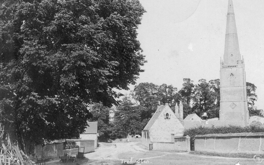 St Gregory's church and village, Tredington.  1900s |  IMAGE LOCATION: (Warwickshire County Record Office)