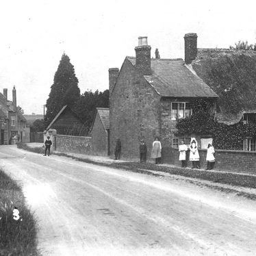 Tredington.  Children standing in the road