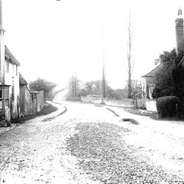 Tredington.  Road leading out of the village