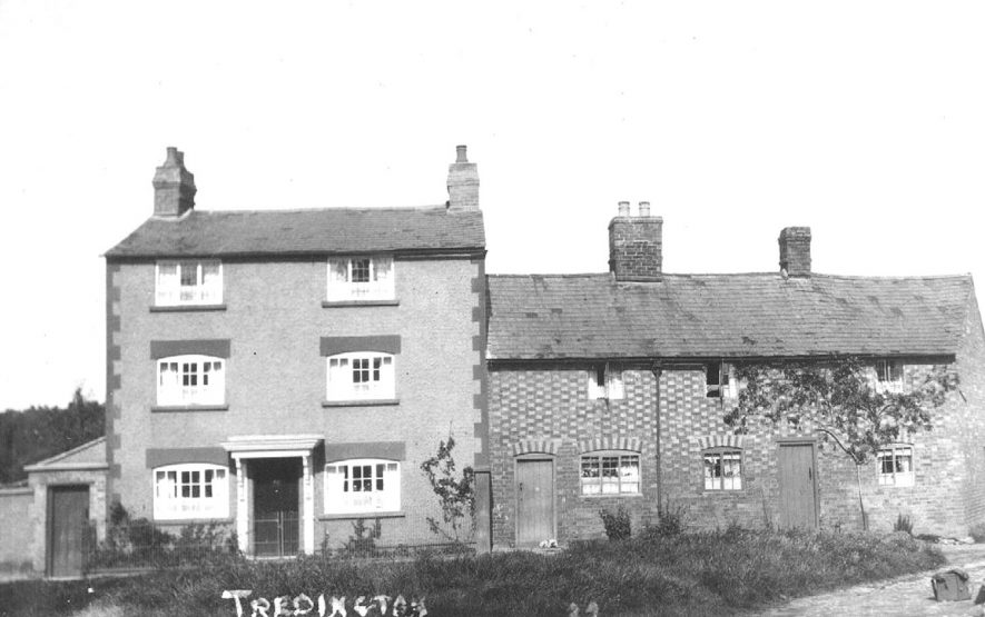 Three storey house and two cottages in Tredington.  1920s    IMAGE LOCATION: (Warwickshire County Record Office)