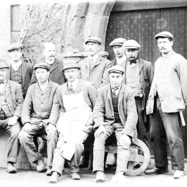 Tysoe.  Group of artisans with the vicar