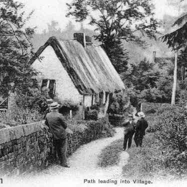 Warmington.  'Path leading into village'