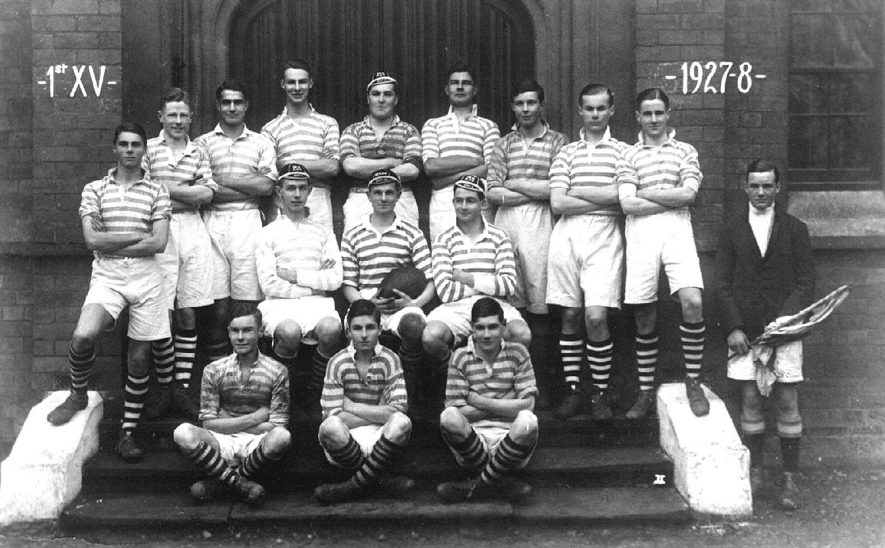 Warwick School Rugby team.  1927 - 28 |  IMAGE LOCATION: (Warwickshire County Record Office)