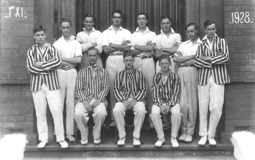 Warwick School Cricket First XI.  1928 |  IMAGE LOCATION: (Warwickshire County Record Office)