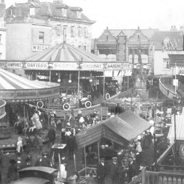 Warwick.  Market Place, during the Mop