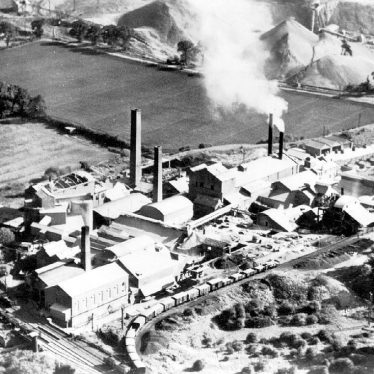 Stockton.  Aerial view of cement works