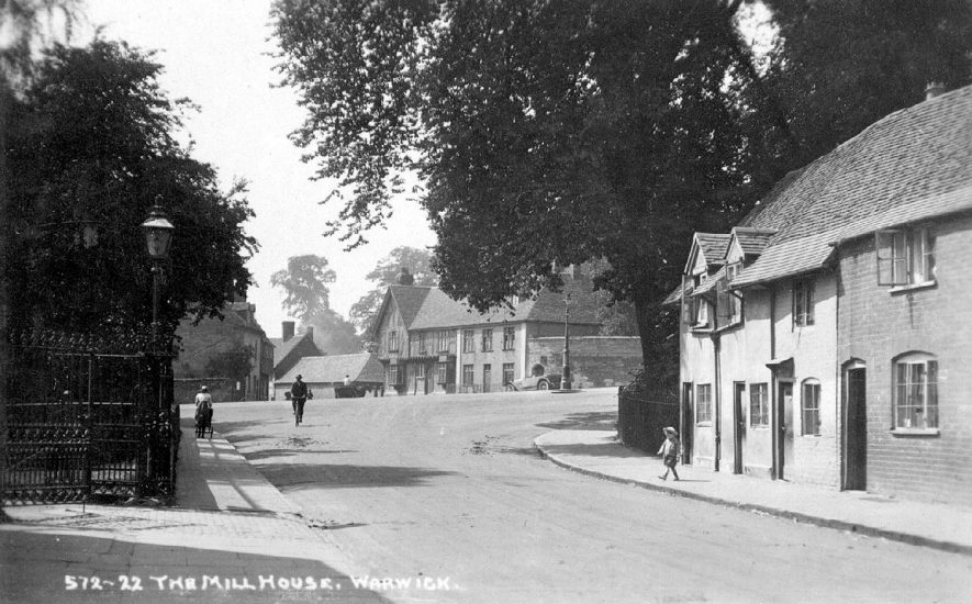 View of The Mill House, Warwick from St Nicholas Church Street.  1920s |  IMAGE LOCATION: (Warwickshire County Record Office)