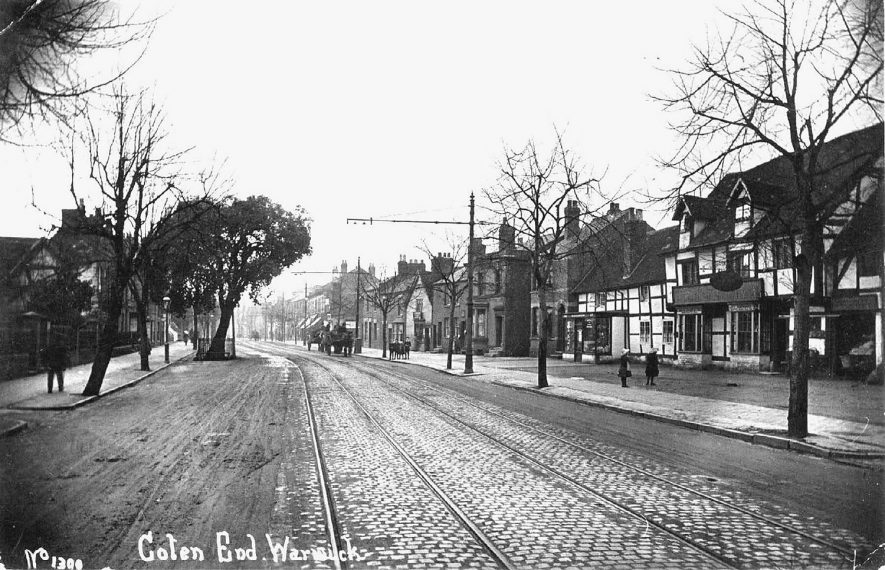 Shops and houses in Coten End, Warwick.  1910s |  IMAGE LOCATION: (Warwickshire County Record Office)