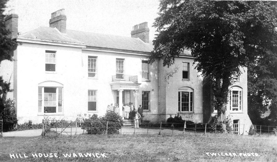 Hill House, off The Saltisford, Warwick. This was possibly used as a hospital at the time.  1910s |  IMAGE LOCATION: (Warwickshire County Record Office)