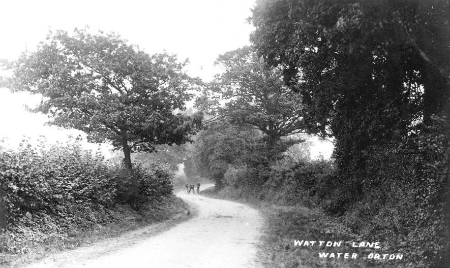 Watton Lane, Water Orton.  1920s |  IMAGE LOCATION: (Warwickshire County Record Office)