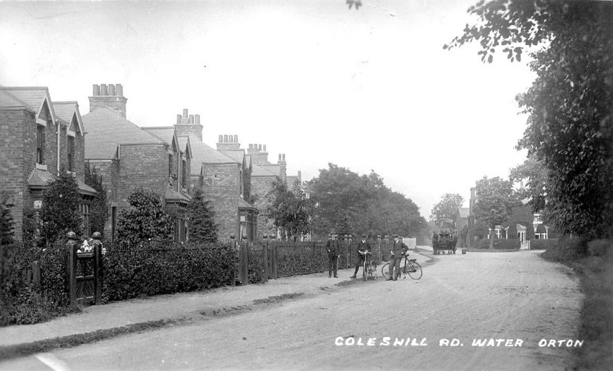 Coleshill Road, Water Orton.  1918    IMAGE LOCATION: (Warwickshire County Record Office)