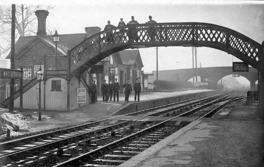 Water Orton railway station.  1900s |  IMAGE LOCATION: (Warwickshire County Record Office)