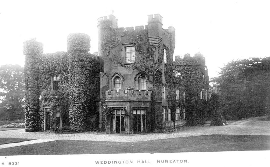 Weddington Hall,  Nuneaton.  1900s |  IMAGE LOCATION: (Warwickshire County Record Office)