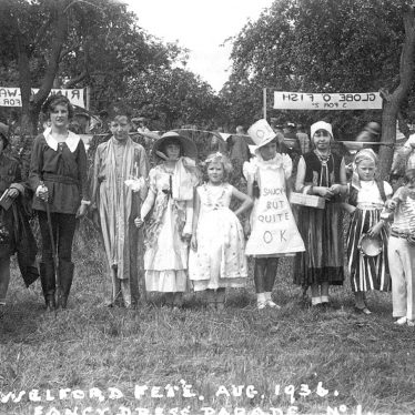 Welford on Avon.  Fancy dress parade at fete