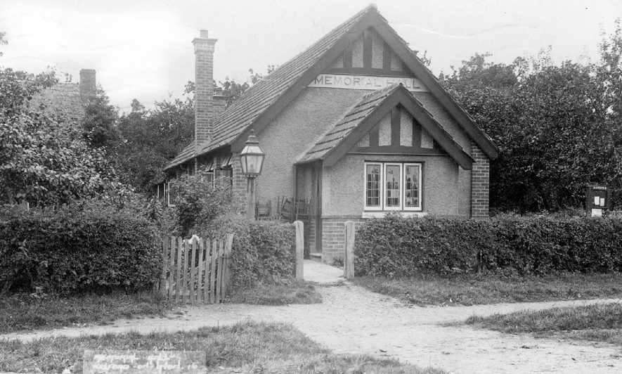 The memorial hall at Welford on Avon.  1930s |  IMAGE LOCATION: (Warwickshire County Record Office)