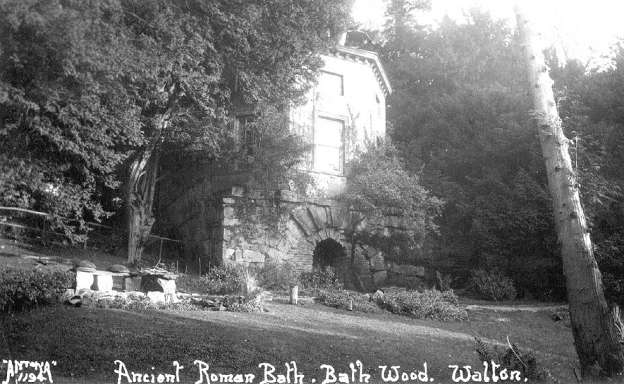 The folly and Roman bath house in Bath House wood at Walton.  1920s |  IMAGE LOCATION: (Warwickshire County Record Office)