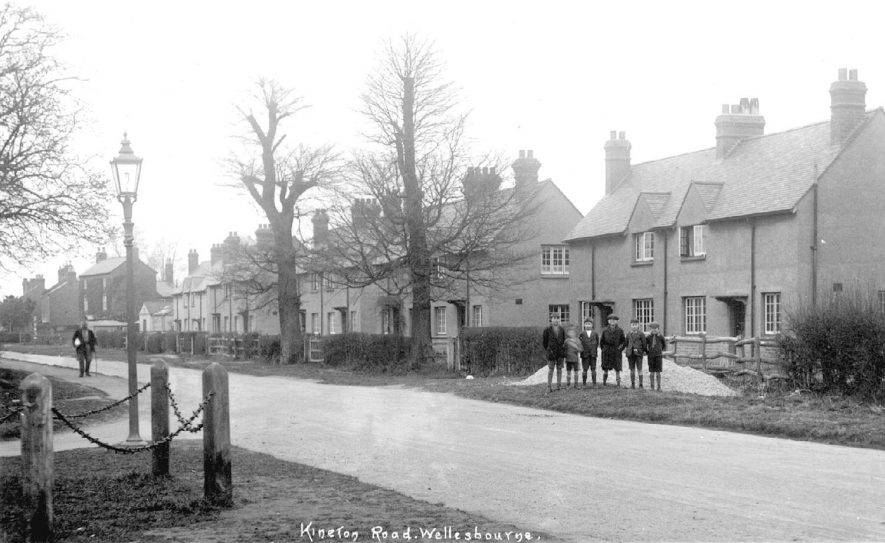 Semi-detached houses known as Central Cottages, Wellesbourne.  1920s [These houses were built by a local builder called JT Thorpe in 1929] |  IMAGE LOCATION: (Warwickshire County Record Office)
