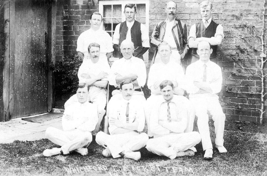 Photograph of the Whichford Cricket XI taken in 1913 |  IMAGE LOCATION: (Warwickshire County Record Office)