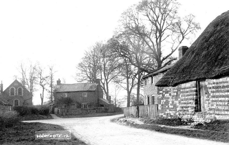 Whatcote village cottages.  1920s |  IMAGE LOCATION: (Warwickshire County Record Office)