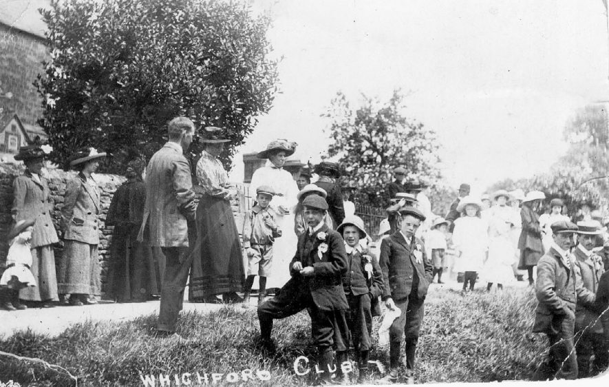 Whichford Club members at Club Day celebration.  1900s |  IMAGE LOCATION: (Warwickshire County Record Office)