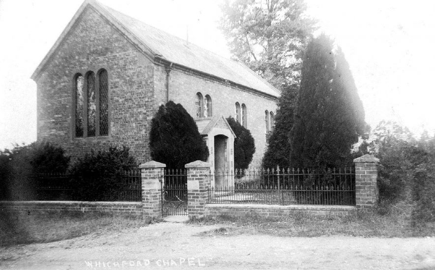 Whichford Chapel, possibly at Ascott.  1900s. [It is suggested that this Chapel is between Whichford and Ascott.] |  IMAGE LOCATION: (Warwickshire County Record Office)