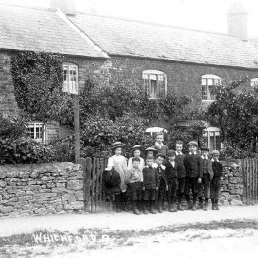 Whichford.  Group of schoolchildren