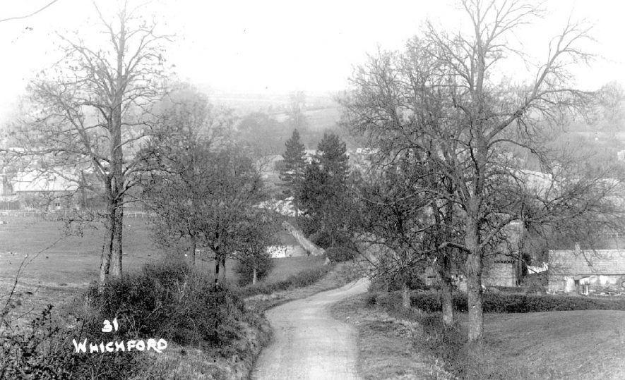 Country road leading into Whichford village.  1920s |  IMAGE LOCATION: (Warwickshire County Record Office)