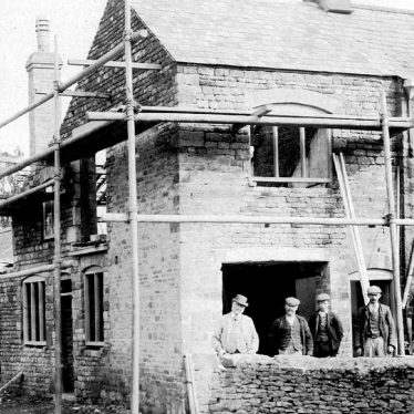 Whichford.  Rebuilding the Post Office