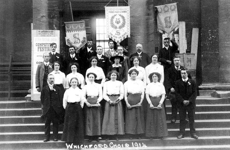 Whichford Choir at Chipping Norton.  1914 |  IMAGE LOCATION: (Warwickshire County Record Office) Chipping Norton outside mapped area.