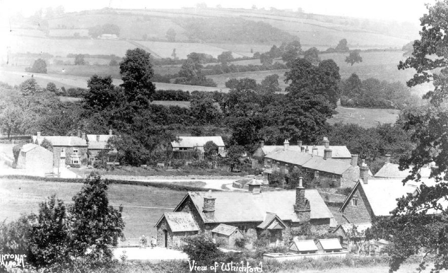 View of Whichford village and surrounding countryside.  1930s |  IMAGE LOCATION: (Warwickshire County Record Office)