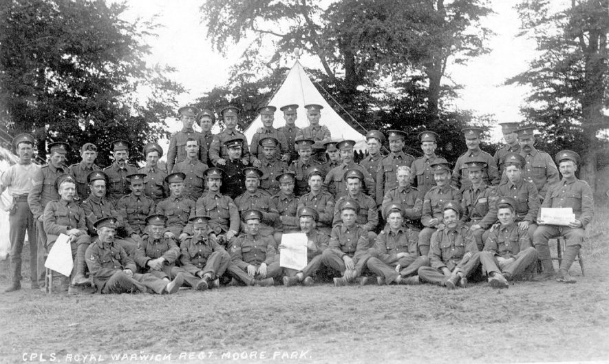 Group of Corporals, Royal Warwickshire Regiment.  1900s |  IMAGE LOCATION: (Warwickshire County Record Office)
