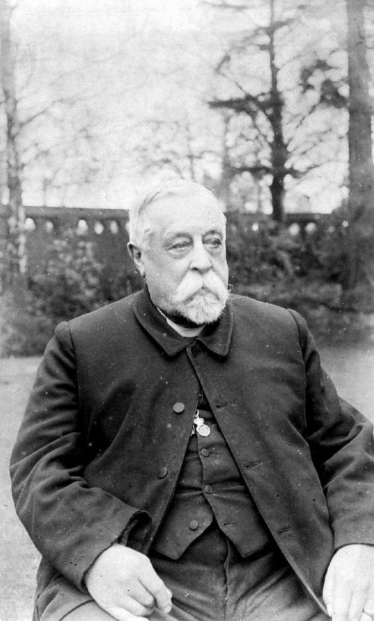 Rev. Thomas Bourne Dickens, vicar of All Saint's, Emscote, Warwick, 1861 - 1903. This picture was taken after his retirement.  c. 1905 |  IMAGE LOCATION: (Warwickshire County Record Office) PEOPLE IN PHOTO: Dickins, Revd Thomas Bourne