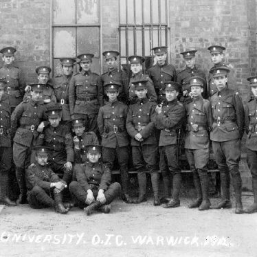 Warwick.  Birmingham University Officers Training Corps