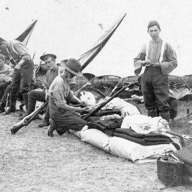 Warwickshire Yeomanry.  Camp