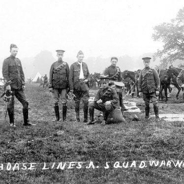 Warwickshire Yeomanry.  Horse Lines