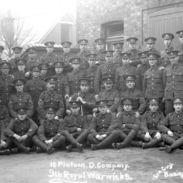 Royal Warwickshire Regiment.  15 Platoon, D company