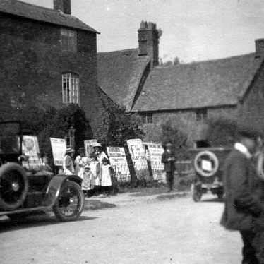 Warwickshire.  Electioneering in a village