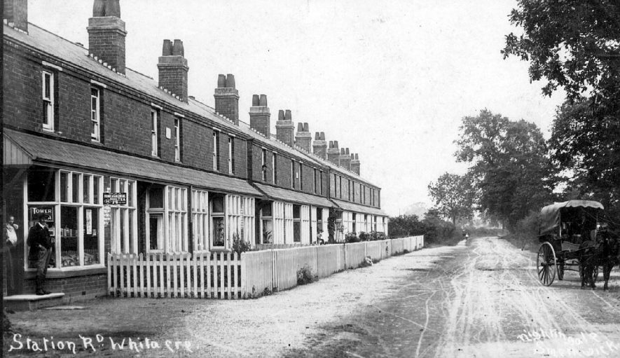 Station Road, Nether Whitacre.  1900s |  IMAGE LOCATION: (Warwickshire County Record Office)