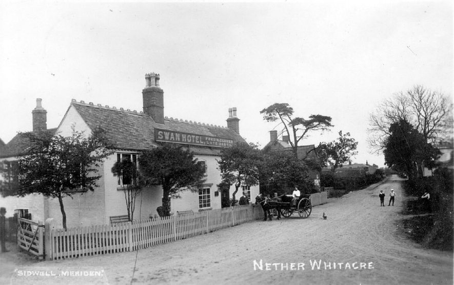 The Swan Inn, Nether Whitacre.  1913 |  IMAGE LOCATION: (Warwickshire County Record Office)