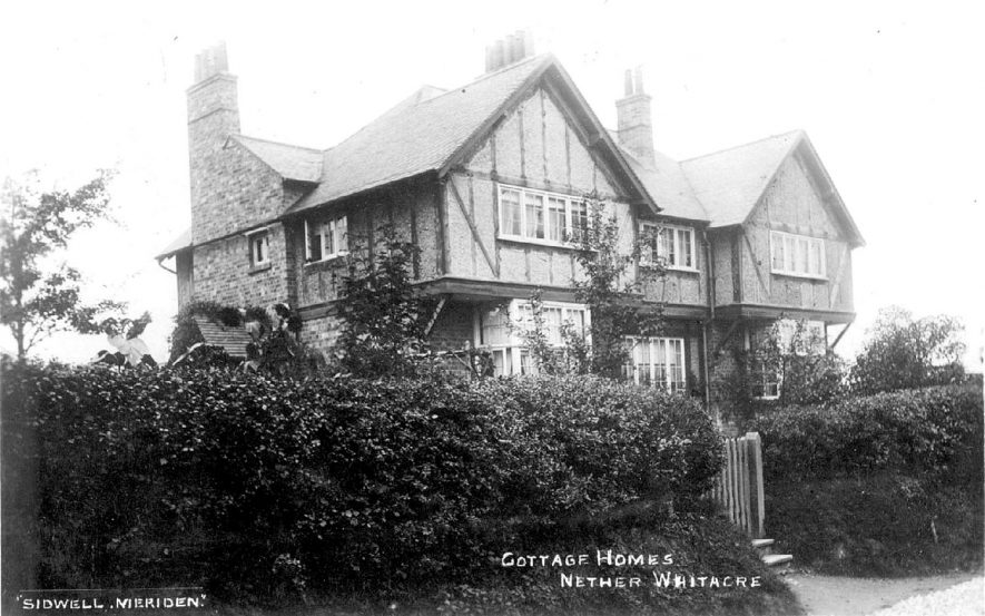 Cottages Homes for orphans.  Nether Whitacre.  1912 |  IMAGE LOCATION: (Warwickshire County Record Office)